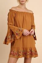 Umgee USA Embroidered Flounce Peasant Dress