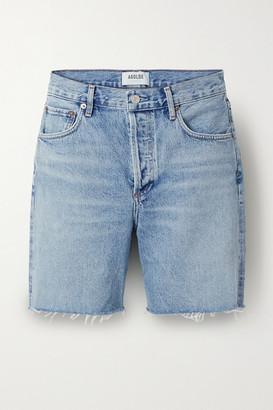 AGOLDE Rumi Frayed Denim Shorts - Blue