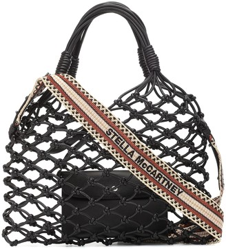 Stella McCartney Faux-leather net tote