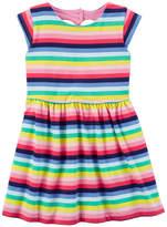 Carter's Short Sleeve Stripe A-Line Dress - Toddler Girls