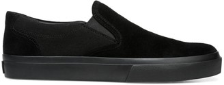 Vince Floyd Canvas & Leather Slip-On Sneakers