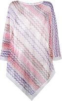 Missoni chevron-knit poncho - women - Cotton/Viscose - One Size