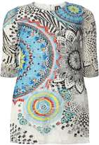 Izabel London **Izabel London Multi Blue Contrast Dress