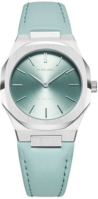 D1 Milano Leather Strap Watch