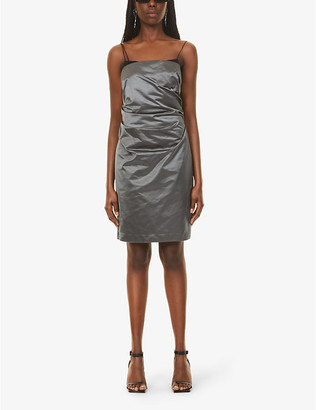 Helmut Lang Sleeveless satin mini dress