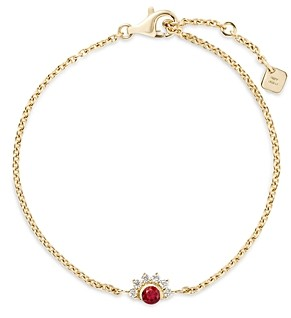 Nouvel Heritage 18K Yellow Gold Mystic Diamond & Red Spinel Chain Bracelet