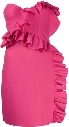 MSGM ruffled bustier dress