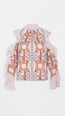 Temperley London Etoile Printed Blouse