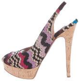 Missoni Metallic Slingback Sandals