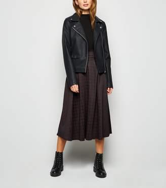 New Look Innocence Check Midi Skirt
