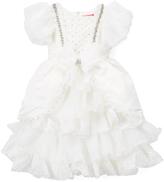 Kidorable Off-White Ruffle Angel-Sleeve Dress - Toddler & Girls