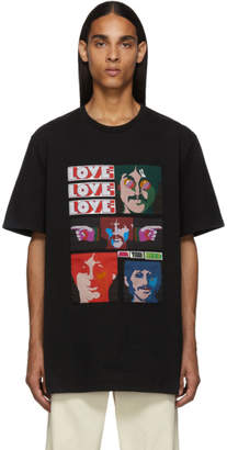 Stella McCartney Black The Beatles Oversized Patches T-Shirt