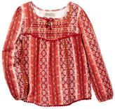 Lucky Brand Printed Smocked Top (Toddler Girls)