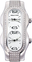 Philip Stein Teslar Mini Signature Double Diamond Watch Head, White Dial, Size 4