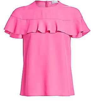 RED Valentino Women's Chiffon Short-Sleeve Cape Blouse