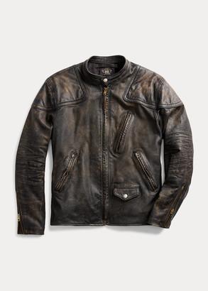 Ralph Lauren Slim Fit Leather Moto Jacket