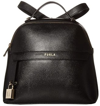 Furla Piper Small Backpack (Nero) Backpack Bags