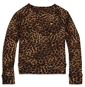 Spiritual Gangster Girls' Cheetah Raglan Sweatshirt - Big Kid