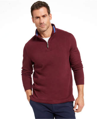 Club Room Men Quarter Zip French Rib Pullover Sweater