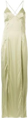 Manning Cartell Australia V-neck metallic side slit dress