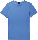 Hugo Boss - Taber Contrast-tipped Pima Cotton-jersey T-shirt