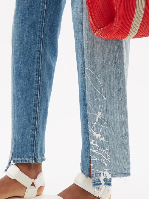 Thumbnail for your product : Kuro Patchwork Straight-leg Jeans - Denim