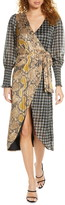 Foxiedox Nalia Long Sleeve Wrap Dress