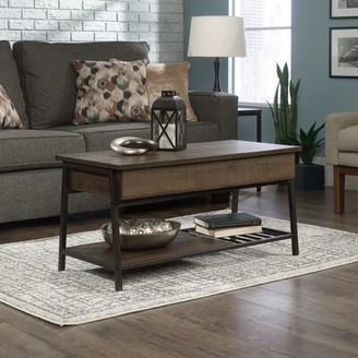 Laurel Foundry Modern Farmhouse Bronson 4 Legs Coffee Table Top Color: Smoked Oak