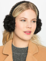 ELOQUII Plus Size Beaded Faux Fur Earmuff