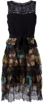 Etro lace layered dress - women - Silk/Cotton/Acrylic/Viscose - 42