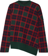 Cédric Charlier Plaid Wool Sweater - Forest green