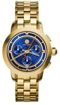 Tory Burch Tory Chronograph Goldtone Stainless Steel Bracelet Watch/Blue