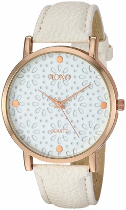 XOXO Women's Analog-Quartz Watch with Leather-Synthetic Strap
