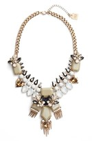 Adia Kibur Women's Crystal & Spike Statement Necklace