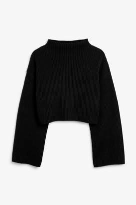 Monki Chunky low turtleneck sweater