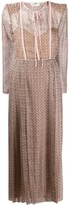 Fendi FF print pleated dress