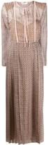 Fendi FF print pleated dress