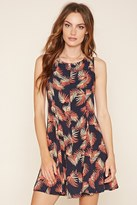 Forever 21 FOREVER 21+ Contemporary Leaf Print Dress
