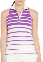Lauren Ralph Lauren Plus Striped Sleeveless Polo Shirt