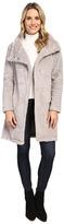 Dylan by True Grit Plush Faux Heather Fur Long Snap Jacket