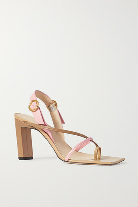 Wandler Elza Two-tone Leather Slingback Sandals - Tan