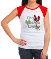 CafePress - Crazy Chicken Lady T-Shirt - Women's Cap Sleeve T-Shirt