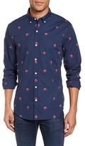 Bonobos Men's Slim Fit Washed Rose Print Sport Shirt