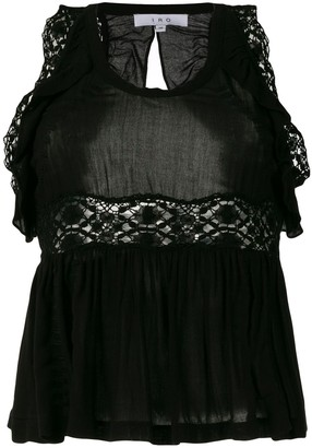 IRO crochet and frill detailed blouse