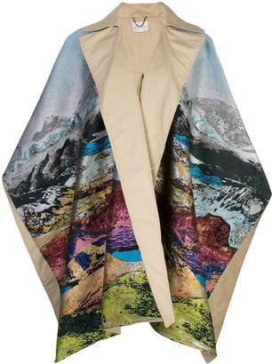 Mary Katrantzou Show cape coat