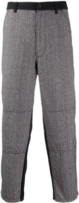 Comme des Garcons Panelled Plaid Suit Trousers