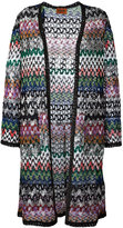 Missoni zigzag cardi-coat - women - Polyester/Cupro/Viscose - 40