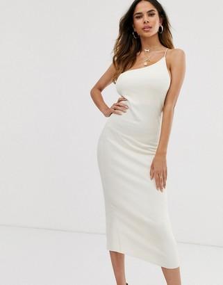 ASOS DESIGN one shoulder rib bodycon dress