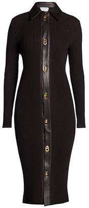 Bottega Veneta Rib-Knit Sweater Dress