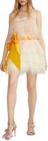 Cynthia Rowley Kitty Feather Party Dress